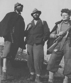 Partigiani bresciani in località Pertica Alta