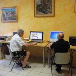 Laboratorio informatico a disposizione degli ospiti.