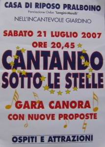 Locandina dell'evento cantando sotto le stelle 2007